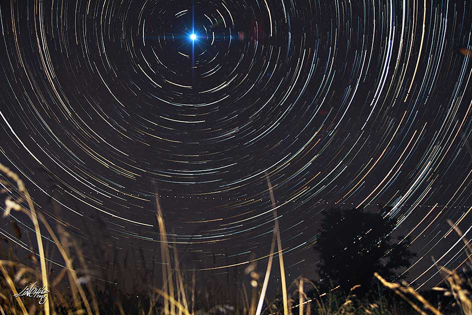 panoramic startrail
